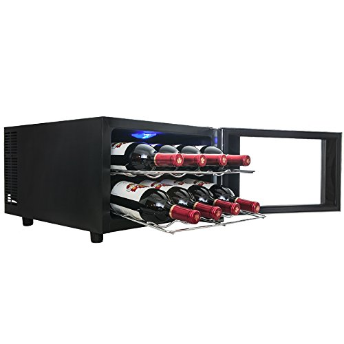 Firebird new 8 bottle thermoelectric quiet operation wine for Modern homes 8 bottle wine cooler