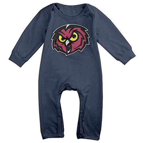 Price comparison product image PCY Newborn Babys Boy's & Girl's Temple University Owls Long Sleeve Baby Climbing Clothes For 6-24 Months Navy Size 18 Months