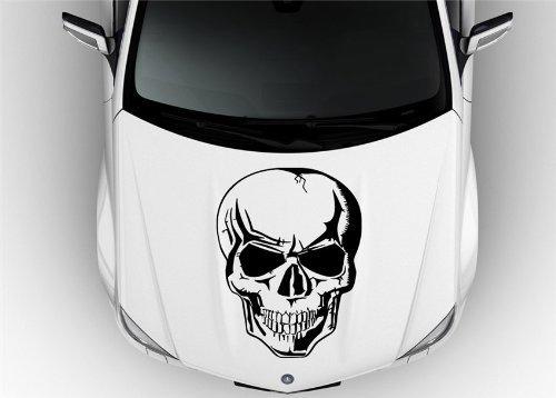 musin llc Skull Cute Hood Vinyl Sticker Decals ()