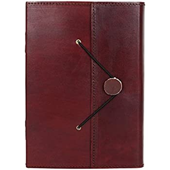 RUSTIC TOWN Handmade Vintage Antique Looking Genuine Leather Bound Journal Diary Notebook Travel book with blank Unlined pages to write for Men Women Gift for him her