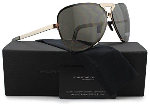 Porsche Design P8678 C Sunglasses Matte Gold w/Crystal Brown & Crystal Grey (V578) 8678 67mm ()