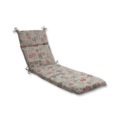 Cheap pillow perfect chaise lounge cushion with bella dura carte postale fabric - Discount outdoor chaise lounge cushions ...