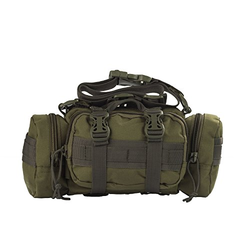 3V Gear Rapid Deployment Pack / Convertible Adjustable Shoulder Strap to Waist Carry / Multi-Pockets with Interior Organization for EMT, First Response, Survival, or Military Use / Olive Drab Deployment Pack