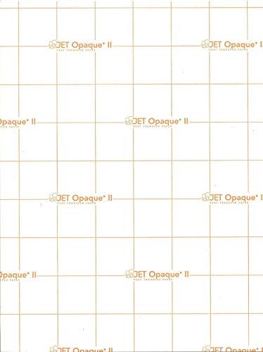 INKJET TRANSFER PAPER FOR DARK FABRIC: NEENAH ''JET OPAQUE II'' (8.5''X11'') 50NKJET TRANSFER PAPER FOR DARK FABRIC: NEENAH ''JET OPAQUE II'' (8.5''X11'') 50Pk :) by JET-OPAQUE® II Neenah Paper (Image #1)