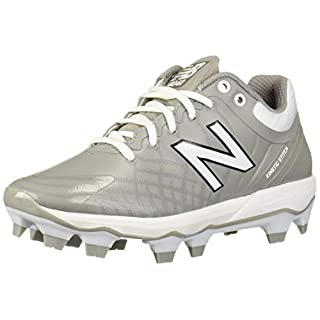 New Balance Men's 4040 V5 TPU Molded Baseball Shoe, Grey/White, 14 M US