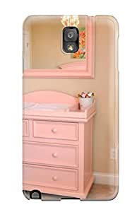 For Galaxy Case, High Quality Girls Nursery Soft Pink Changing Table And Mirror For Galaxy Note 3 Cover Cases