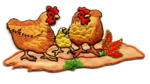 (1 Pc of Chicken - Buff Orpington - Barnyard Hens - Farm - Iron On Applique Patch)