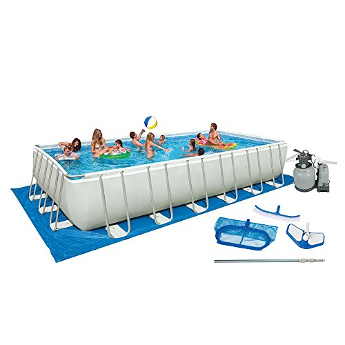 Intex 32ft X 16ft X 52in Ultra Frame Pool Set with Sand Filt