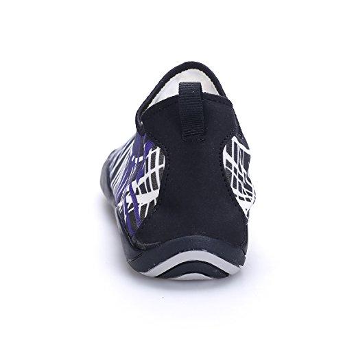 Kitleler Zapatos De Agua Para Hombres Mujeres Zapatillas De Casa Descalzo Aqua De Secado Rápido Con Orificio De Drenaje Para Natación Yoga Negro Blanco