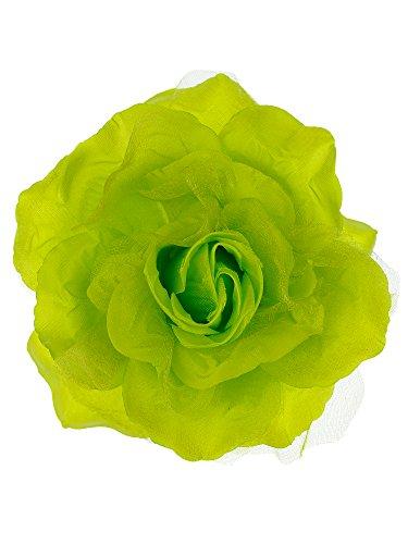 NYFASHION101 Women's Multifunction Rose Flower Sheer Petal Brooch Pin Hair Tie Clip, (Multifunction Rose)