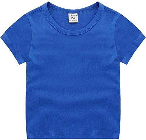 Tシャツ 子供 半袖シャツ 100%棉 カットソー 柔らかい 通気 ボーイズ ガールズ