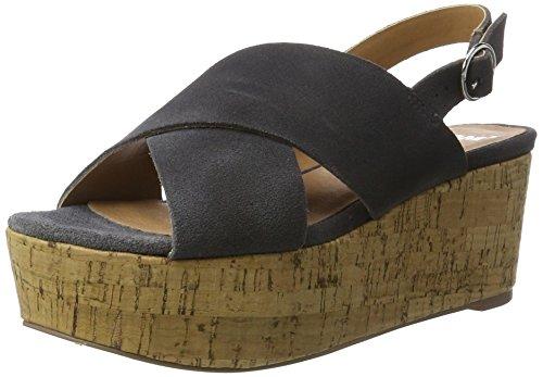 SPM Casma Cork Sandal - Sandalias Mujer Grau (dk Grey 013)