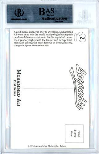 Muhammad Ali Signed Auto 3.5x5.5 Postcard Beckett Certified