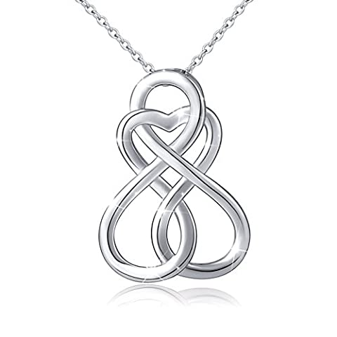 ATHENAA S925 Sterling Silver Infinity Love Celtic Knot Pendant Necklace - Celtic Love Symbol