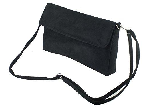 3 Way Clutch faux Loni Black in Womens Bag Wonder suede 5FEwB1Wqwx