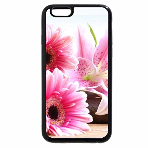 iPhone 6S / iPhone 6 Case (Black) Flowers & Sea