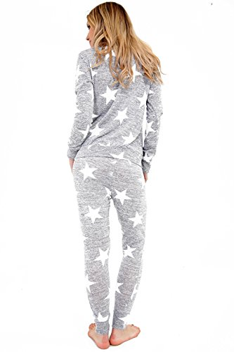 AHR - Chándal - para mujer Light Grey Star Print