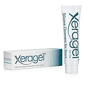 Xeragel ® 100% Silicone Gel Scar Treatment Dr. Recommended Perfect for Scars on the Face, Keloid and Hypertrophic, 10g