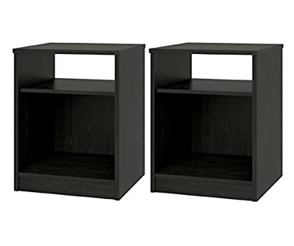 Amazon Com Night Stand With Simple Design In A Classic Look Set Of