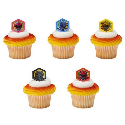 Power Rangers Morphinominal Cupcake Rings - 12 pc -