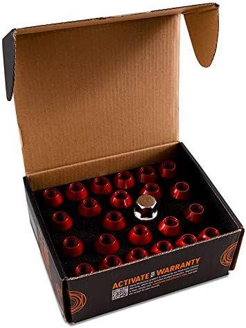 Red 1//2 x 20 Mishimoto MMLG-1220-LOCKRD Aluminium Locking Lug Nuts