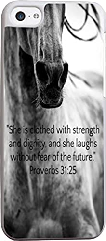 Christian Quotes Proverbs 31:25 Cute Horse Case for iPod ...