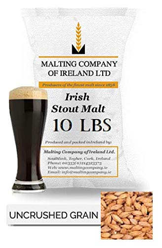 10LB IRISH STOUT MALT - GROWN AND MALTED IN IRELAND BY MCI (MALT COMPANY OF IRELAND)