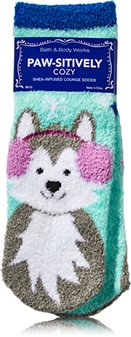 Price comparison product image Bath and Body Works POS-ITIVELY Cozy Socks xmas shea infused lounge Socks