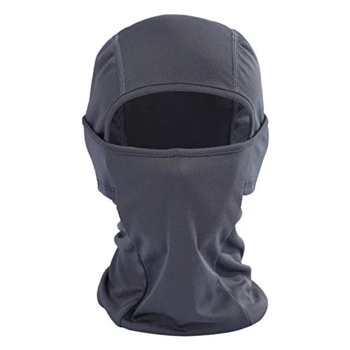 Balaclava Face Mask Ultra Thin Helmet Liner Cover Hood for Outdoor Sports, Windproof Sun Protection Bike Motorcycle Skateboard Football Shield Head Sock Ninja Mask Neck Warmer Full Face Bandana,Gray