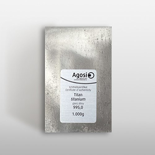 Lingot de titane de 1 kg Ti superbement fabriqu/é /à la raffinerie allemande de m/étaux pr/écieux
