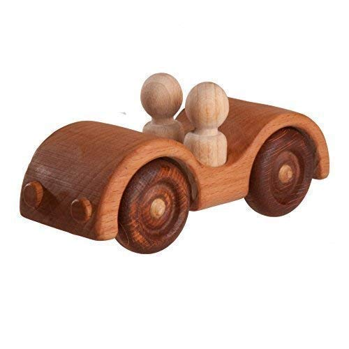 Car Convertible with 2 passengers, Baby toy, wooden car