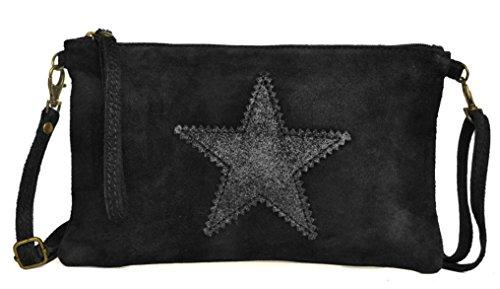 26 Fabriqué Lae Etoile H x Pochette de cm velours Veau cm Sac Noir 1 L In E 5 Italie Cuir Croûte irisée 5 cm en 15 x O1WwOvqrR
