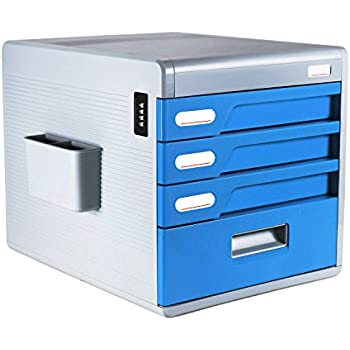Marvelous FINE DRAGON 4 Drawer Desktop File Cabinet Organizer With Combination Lock  For Office And Household