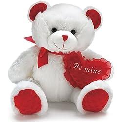 "Burton and Burton Large Bear Carla ""Be Mine"" Valentine Plush, 13"""