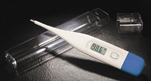 McKesson 01-413RGM Entrust Digital Rectal Thermometer Performance Standard Probe Hand-Held, Blue (Pack of 12) by McKesson