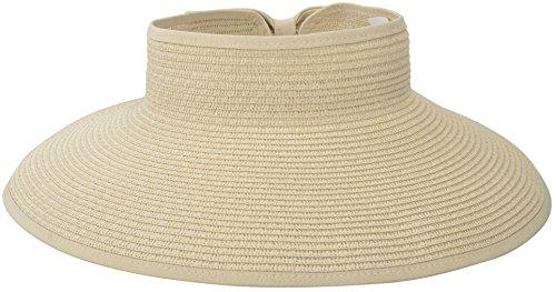 Brim Braid (Simplicity Women's Wide Brim Roll-up Straw Hat Sun Visor Off-White)