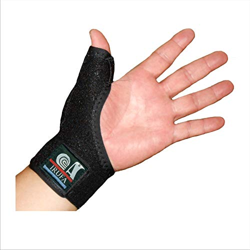 IRUFA, 3D Breathable Spacer Fabric Reversible CMC Joint Thumb Stabilizer, Splint Spica, Abducted Thumb for BlackBerry Thumb, Trigger Finger, Mommy Thumb, One PCS (Regular)