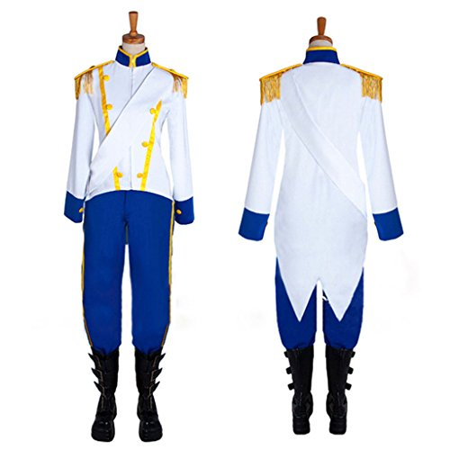 CosplayDiy Men's Costume Suit for The Little Mermaid Prince Eric Cosplay CM (Eric Little Mermaid Costume)