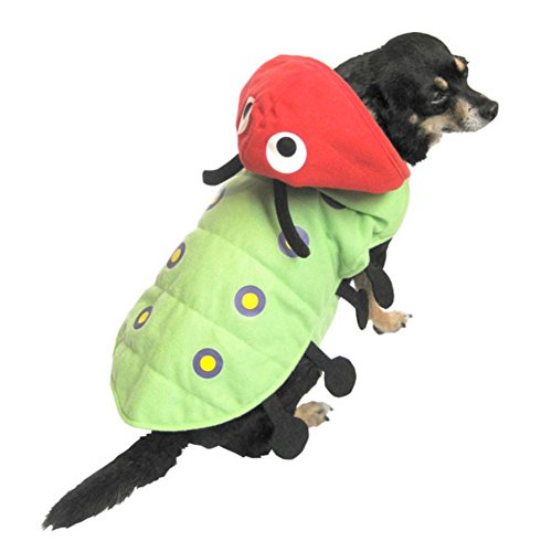 Caterpillar Dog Costume Green Bug Pet Outfit X-Small