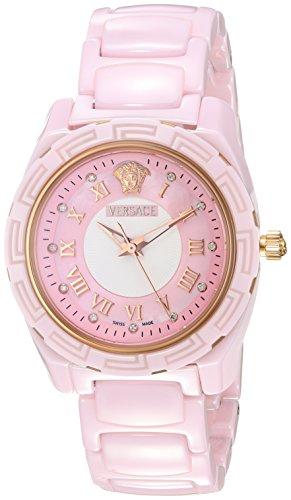 Versace Women's 63QCP5D111 SC11 DV One Glamour Analog Display Quartz Pink Watch