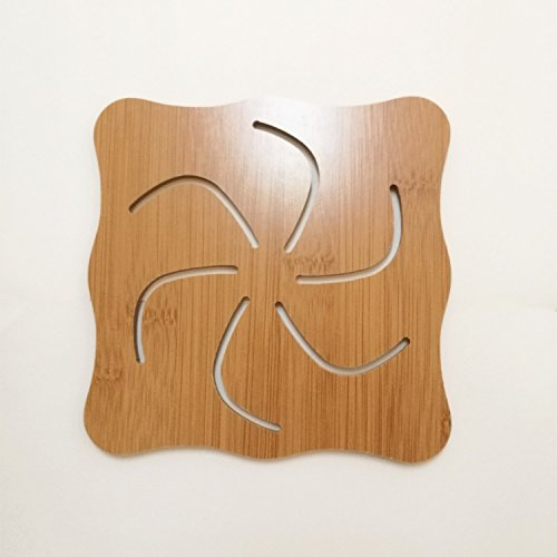 - Pofat Wood Drink Coasters - Great Housewarming Gift (Large(5.715.710.20 inch), Pinwheel)