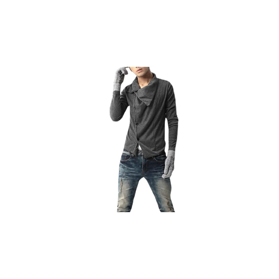 Stylish Mens Gothic Style Casual Dress Shirt Sweatshirt