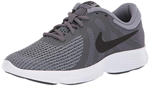 Nike Boys' Revolution 4 (GS) Running Shoe, Dark Black-Cool Grey-White, 7Y Regular US Big Kid (Nike Little Girls Tennis Shoes)