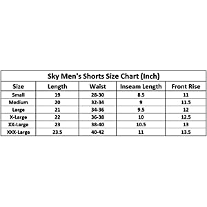 MOTUS Mens Cotton Casual Shorts Combo Pack, Elastic Waist Shorts, Multicolor