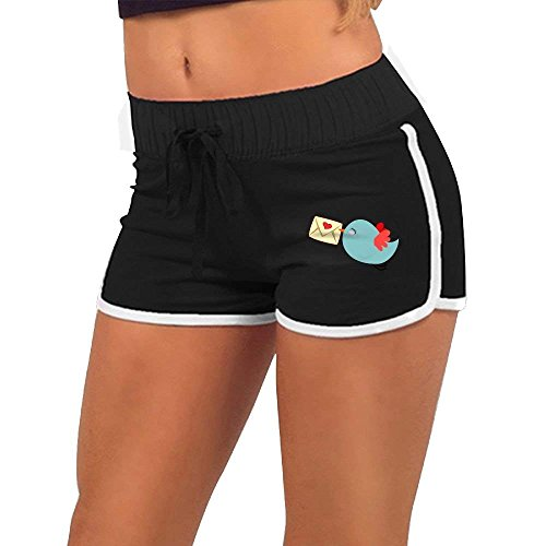 BBggyh Women's Low Waist Shorts Mail Carrier Bird Casual Sexy Yoga Beach Shorts by BBggyh