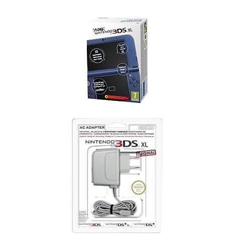 New Nintendo 3DS - Consola XL, Color Azul Metálico + Adaptador a ...
