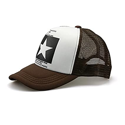 Amazon.com : Miki Da Super Big Stars cap Hat Autumn-summer baseball snapcap snapback caps Men women hiphop sport hats Gorras hat cap Brown : Sports & ...