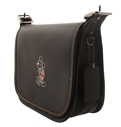 Mickey 23 with COACH Leather Saddle Glove Black MICKEY in Calf Patricia zzZpw
