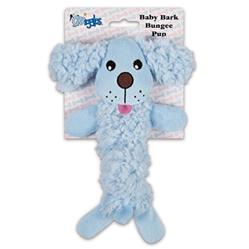 Grriggles Baby Bark Bungee Pup Toy, Blue