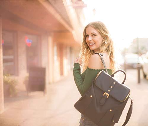 Spéciale Noir Sac College A Femme Style Conception Fanspack Dos Cuir x7SO0O1nU